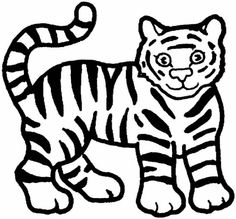 Awesome Tiger Coloring 3.gif 770×716 Pixels