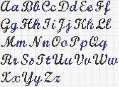 modèle broderie point de croix alphabet 8