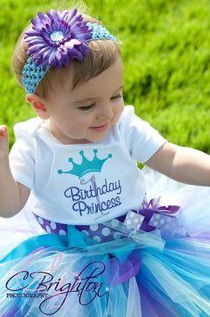 1st Birthday Tutu Sweet Periwinkle Tutu READY2SHIP by HannahsTutus, $25.00