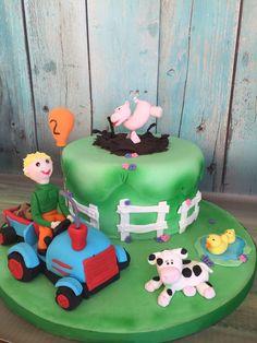 Fun in the farm cake