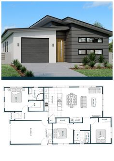 Generous glazing to a sun soaked open plan living area for all year comfort. 2 Bedroom House Plans, Dream House Plans, Small House Plans, House Rooms, My Dream Home, Home Room Design, Home Design Plans, Plan Design, Philippines House Design