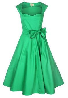 Amazon.com: Lindy Bop 'Grace' Vintage 1950'S Rockabilly Style Bow Swing Party Evening Dress: Clothing