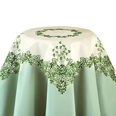Embroidered Irish Clover Table Linens, Square