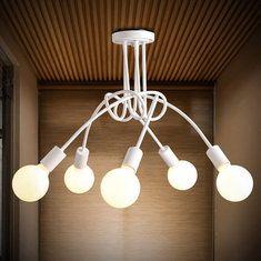 E27 корейское творческое освещение искусства минималистский гостиной спальня кулон AC110-240V светильник