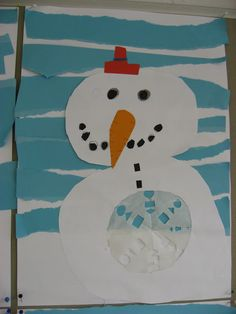 Winter Art, Snowman, Kindergarten, Crafts, Hands, Manualidades, Kindergartens, Snowmen, Handmade Crafts