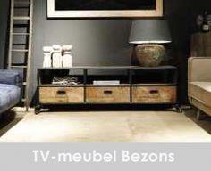 industrieel TV-meubel Bezons 3 laden 57x175x38 (1)