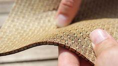 Der Lasercutter-Trick: So lässt sich Sperrholz in Wellen legen | Make