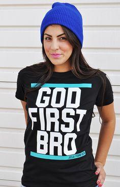 $17.99-GOD1ST-SHIRT by JCLU Forever Christian t-shirts