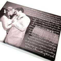 Your first dance photo & song lyrics wall sign.