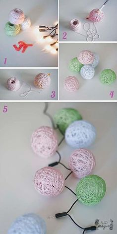 More than 10 ideas of super light crafts for Christmas - Christmas Crafts - Christmas . Diy And Crafts, Crafts For Kids, Arts And Crafts, Kids Diy, Christmas Lights, Christmas Crafts, Christmas Christmas, Christmas Tables, Christmas Colors