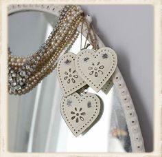 I have some like this, added wire, beads and hanging by lace ribbon, looks awesome.