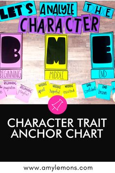 Grab this FREE activity for teaching how to analyze and use character traits. Describing Characters, Free Characters, Character Trait, Character Development, Personal Email Address, Amy Lemons, Classroom Charts, Text Evidence, Student Drawing