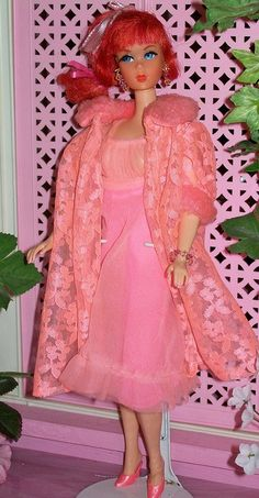 Vintage Barbie Lovely Sleeps-Ins, 1970  I have this house coat!  I do believe it was Gina's - womens red lingerie, body lingerie, free lingerie *ad