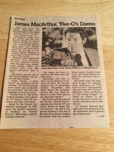 Obituary - JAMES MacARTHUR. -  10/29/10  - NEWSDAY  Newspaper Clipping