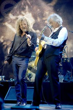 Robert Plant and Jimmy Page, 2007. Celebration Day concert.