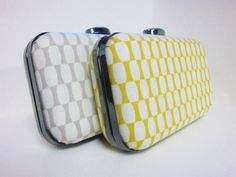 Gray and yellow weddings  Bridesmaid clutch set in grey and yellow by VincentVdesigns, $108.00