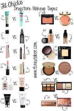 fitchicks_simple_swaps_drugstore_makeup_dupes_pinable1.png (735×1102) Peeling, Best Makeup, Makeup Doupes, Makeup Hacks, Elf Makeup Dupes, Elf Dupes, Best Target Makeup, Eyebrow Makeup, Makeup Basics