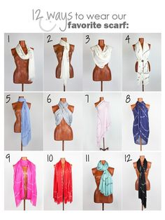 How to Tie Your Scarf in 12 Different Ways!