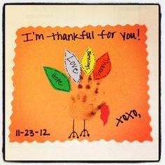 NICU baby handprint turkey