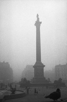 Trafalgar Square London 1959.  My last winter in London.