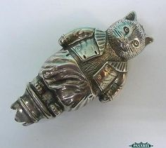 Novelty-Sterling-Silver-Tom-Kitten-Baby-Rattle-WH-Collins-England-1934