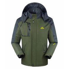 524a3864db Men s Windproof Fleece Jacket Winter Outdoor Sport Waterproof Ski Jacket  Coat Camping Hiking Running