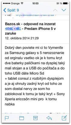 Kvalitná odpoveď na inzerát od našej poslucháčky :D http://www.funradio.sk/novinky/27680-daniela-predava-iphone-dostala-zaujimavu-ponuku/