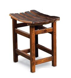Our Reclaimed Wine Barrel Tasting Stool is hand crafted from salvaged pine wood…