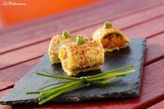 Falso maki de salmón con mostaza