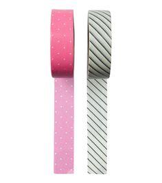 HEMA stationery - Set van 2 rollen washi tape.