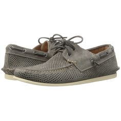 John Varvatos Schooner Boat (Lead 1) Men's Slip on  Shoes ($198) ❤ liked on Polyvore featuring men's fashion, men's shoes, men's loafers, mens deck shoes, mens slipon shoes, sperry top sider mens shoes, mens slip on boat shoes and mens lace up shoes
