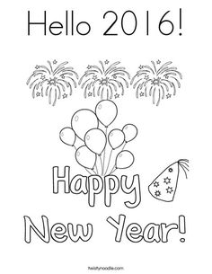 2016 new years eve coloring pages ~ 43 Best Let's Party! Coloring Pages images | Coloring ...