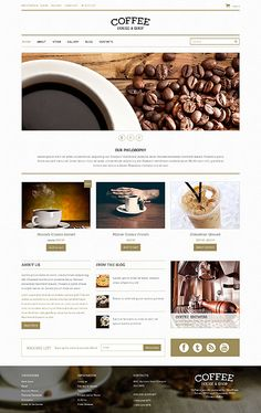 Template 48893 - Coffee House  Responsive WooCommerce  Theme