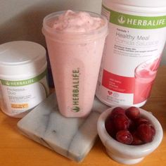 Wild berry Red Grape. 2 level scoops Wild berry Shake 1 heaping scoop protein 1 level scoop Prolessa 5 frozen grapes #herbalife www.goherbalife.com/WendyBreheim