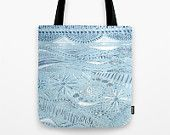 Pastel Blue Tote Bag with Abstract Design, blue tote bag, light blue bag, pastel blue bag, abstract tote bag, light blue tote