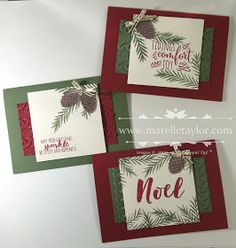 Marelle Taylor Stampin' Up! Demonstrator Sydney Australia: Christmas Pines Stamp-a-Stack