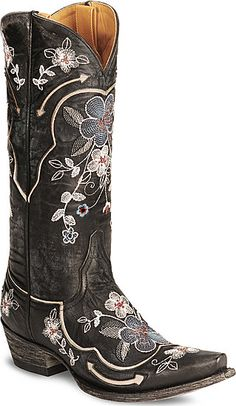Never say no to flowers. Especially when they are part of kickin' cowboy boots.