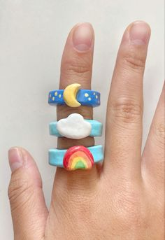 Fimo Ring, Polymer Clay Ring, Fimo Clay, Diy Clay Rings, Clay Art Projects, Cute Clay, Cute Crafts, Clay Creations, Biscuit