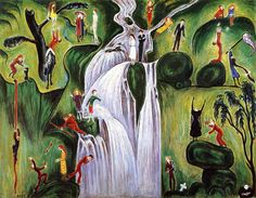 Nils von Dardel (Sweden 1888-1943)Waterfall (1921)oil on canvas 113 x 145 cm