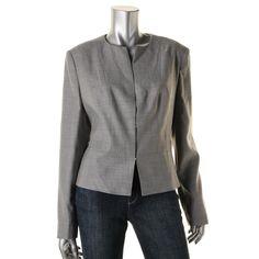 BOSS Hugo Boss Womens Jamyva Wool Woven Collarless Blazer