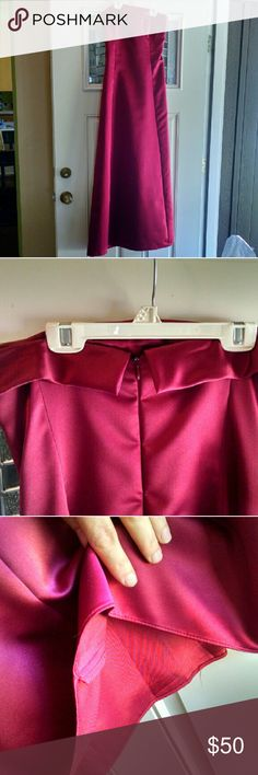 SALE!  Reduced ship! Formal After Six Gown Sz 10 Cranberry gown worn once as a bridesmaid. Fully lined (pic 3) No snags, like new condition. After Six Dresses Prom