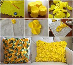 34 Super ideas for embroidery easy diy pillows Felt Flower Pillow, Felt Pillow, Diy Arts And Crafts, Felt Crafts, Diy Crafts, Sewing Pillows, Diy Pillows, Pillow Ideas, Cushions