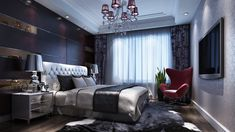 Eye-catching bedroom