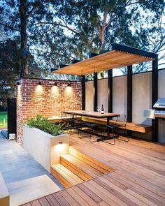Pergola For Small Backyard Outdoor Patio Designs, Outdoor Pergola, Backyard Pergola, Pergola Plans, Backyard Landscaping, Pergola Ideas, Pergola Kits, Backyard Seating, Gazebo