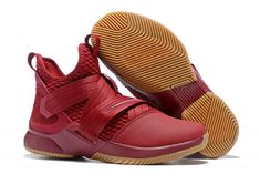 9e8a5ebcd9c37 Nike LeBron Soldier 12 SFG EP Team Red Gum Basketball Shoes-2 Houston  Basketball