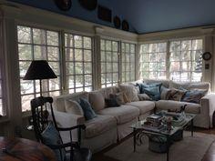 Enclosed porch, nautical themed.