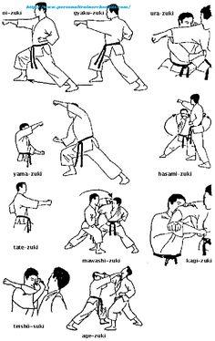 Kombinationen von Fauststössen,Shotokan Karate-Do. Kyokushin Karate, Shotokan Karate, Goju Ryu Karate, Martial Arts Techniques, Martial Arts Styles, Mixed Martial Arts, Art Martial, Karate Do, Karate Moves