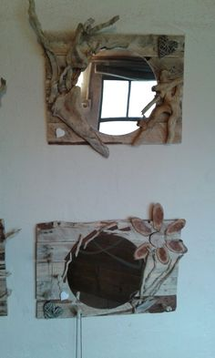 #Driftwood, #PalletMirror, #RecycledPallet