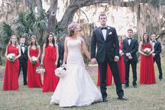 Rustic Chic Southern Wedding in Cherry Red and Black | Black and Hue Photography | See more: http://heyweddinglady.com/cherry-red-black-and-ivory-rustic-chic-wedding-from-black-and-hue-photography/