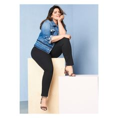 6da56339423 What to wear with denim  More denim of course! Lane Bryant plus size  clothing
